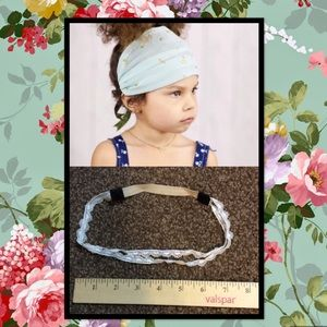 2 Little Girls Boho Head Bands.